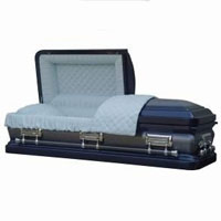 18 Gauge Antique Blue Casket