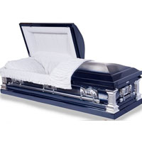 Stainless Steel Dark Blue Finish Casket