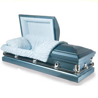 20 Gauge Steel Casket - Regent Blue