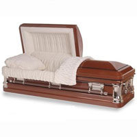18 Gauge Steel Casket - Coveted Brown