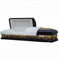 18 Gauge Gold Cross Casket
