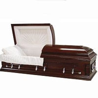 Cherry Wood Wooden Casket (MDF - Veneer)