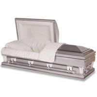 OVERSIZED 18 Gauge Steel Casket (Platinum)