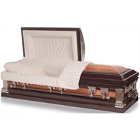 Solid Bronze & Copper Casket