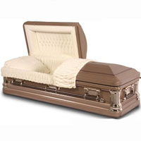 18 Gauge Steel Casket - Autumn Haze Finish with Antique Bronze Highlights