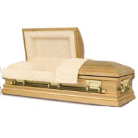 Stainless Steel Gold Casket