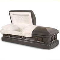 18 Gauge Steel Premium Gray with Dark Gray Finish Casket