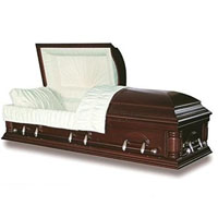 Solid Wood Casket - Lindsey Solid Poplar Wood
