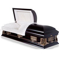 Solid Wood Casket With Dark Matte Finish
