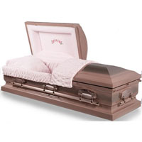 Stainless Steel Misty Rose Finish Casket