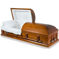 Solid Wood Casket - Oak
