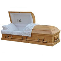 Solid Wood Casket - Solid Pine