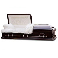 Solid Wood Casket - Solid Black Gloss Poplar Wood