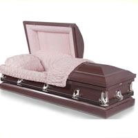 20 Gauge Steel Casket - Light Purple