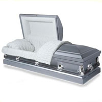20 Gauge Steel Casket - Steel Grey