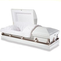 20 Gauge Steel Casket - Traditional White