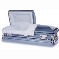 18 Gauge Steel Casket - Treasured Blue