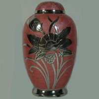 Desert Rose Brass Urn