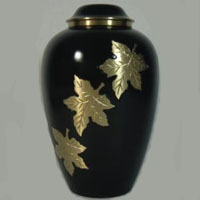 Autumn Brass Urn