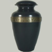Gunmetal Resonance Brass Urn