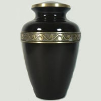 Onyx Resonance Brass Urn
