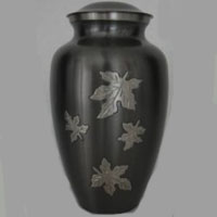 Gunmetal Autumn Brass Urn