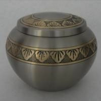Golden Leaf Brass Urn
