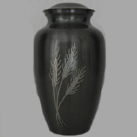 Wheat Field Brass Urn