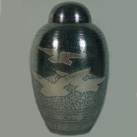 Eternal Flight Brass Urn