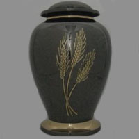 Wheat Field II Brass Urn