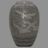 Eternal Flight II Brass Urn
