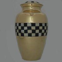 Golden Weave Brass Urn