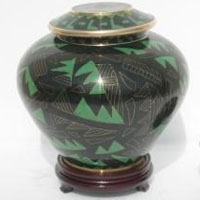 Emerald Path Cloisonne Urn