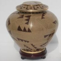 Cafe` Path Cloisonne Urn