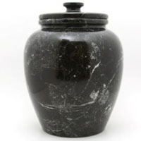 Obsidian Marble Urn