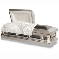 18 Gauge Steel Casket - Silver Sleek Vallirana