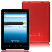 7 inch Google Android 2.3 HD Screen 1080P HDMI&Bluetooth Tablet PC (Red)