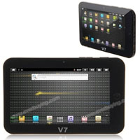 Google Android 2.3 7 inch 1080 Video Flash 10.2 Resistive Screen Tablet PC Silver