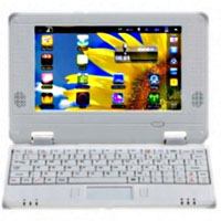 Brand New White 7 inch Google Android 2.2 Netbook RJ45 Notebook