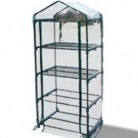 High Quality Greenhouse 4 Tier Mini Portable Green House W/ Shelves