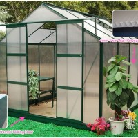 High Quality 8' x 10' Greenhouse Twin-Wall Polycarbonate Green House