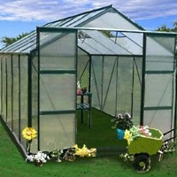 High Quality 12' x 8' Aluminum Frame Greenhouse Green Garden House