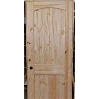 Set of 4 Unfinished Solid Wood Pre-Hung Knotty Pine Interior Doors