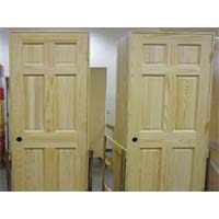 Set of 8 Unfinished Solid Wood Pre-Hung Clear Pine Interior Doors