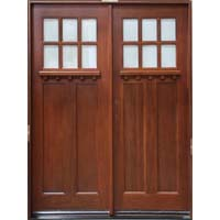 "Solid Wood Cherry Double 30"" Exterior Door Unit"
