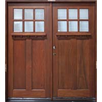Solid Wood Cherry 36'' Exterior Double Door Unit