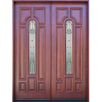 "Solid Wood Mahogany Double 36"" Exterior Door Unit"