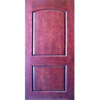 "High Quality Solid Wood Mahogany 2 Panel Interior Door 96"" Tall"