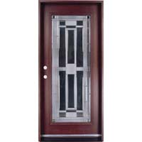 Solid Wood Mahogany 36 Full Light Pre Hung Exterior Door