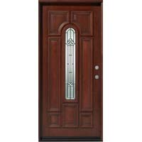solid wood mahogany 36 pre hung exterior door - Single Exterior Doors